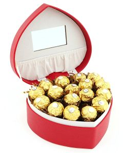 Heart Shaped Jewellery Box with Chocolates A