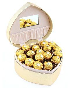 Heart Shaped Jewellery Box with Chocolates B