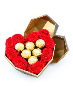 Diamond Heart-Small with Chocolates