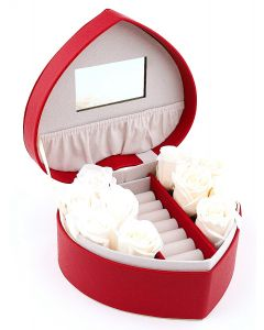 Heart Shaped Jewellery Box with Roses C